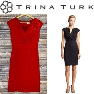 TRINA TURK Red 'Sentimental' sheath dress